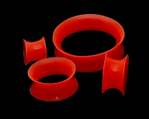 Thin-walled Red Silicone Tunnels