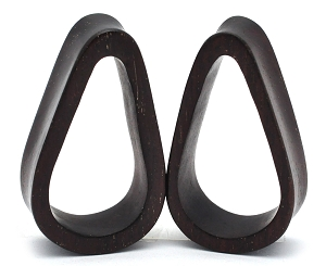 Ebony Wood Teardrop Tunnels