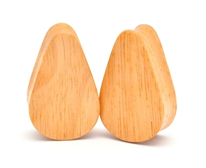 Maple Wood Teardrop Plugs