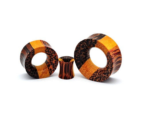 Triple Layered Double Flare Wood Tunnels