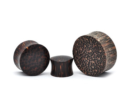 Palm Wood Double Sided Convex Concave Plugs