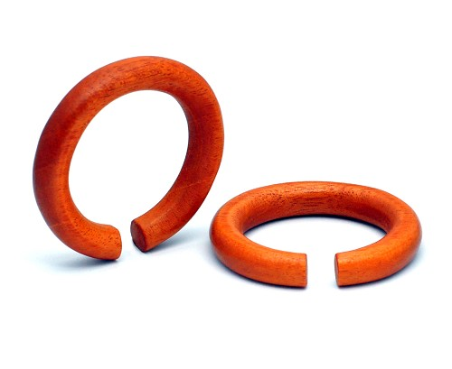 Large Diameter Bloodwood Round Rings