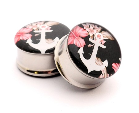 Floral Anchor Picture Plugs