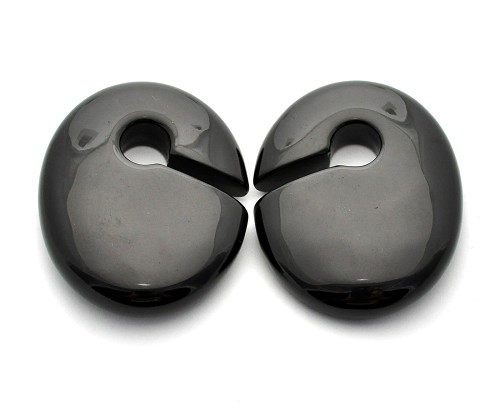 Oval Stone Keyhole Ear Weights