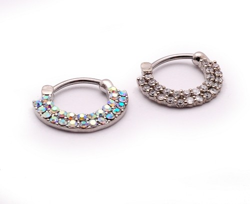 Double Lined CZ Steel Septum Clicker