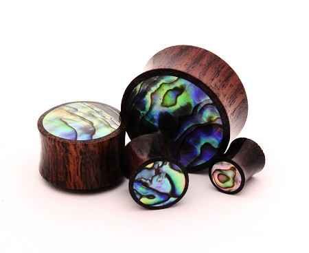 Sono Wood with Abalone Inlay Plugs