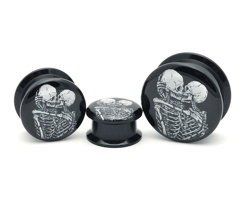 Black Acrylic The Lovers Picture Plugs