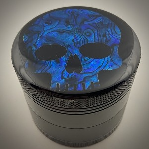 Aluminum Alloy 5-piece Embedded Colored Skull Abalone Grinder