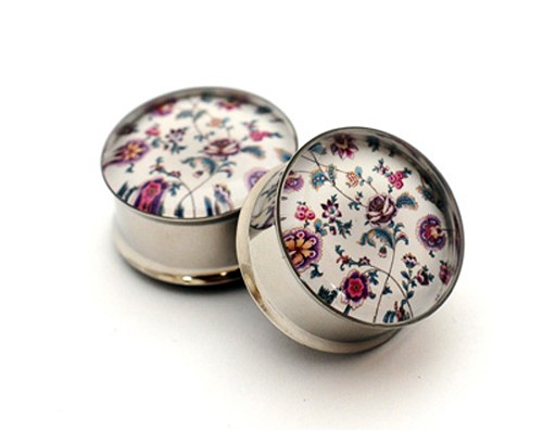 Vintage Floral Picture Plugs STYLE #1
